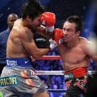 Marquez came off the canvas in the fifth round to close the show in the sixth.
