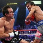 Pacquiao floored Marquez in the fifth and appeared to be coming on strong, but the Mexican rallied.