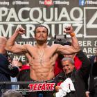 Marquez showed off his chiseled physique at Friday's weigh-in, tipping the scales at 143 pounds.