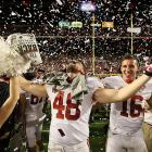 'Bama linebacker Rowdy Harrell soaked in the moment at Sun Life Stadium as Alabama kept the national championship trophy in the SEC for the seventh consecutive year.