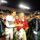 Alabama celebrates after its 42-14 victory over Notre Dame, its third BCS title in four years.