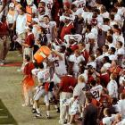 For the third time in four years Nick Saban received the Gatorade bath as the Alabama players celebrated their 42-14 victory.