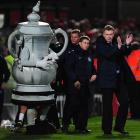 The FA Cup looks a little offended that David Moyes won't even look at him.