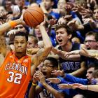 These Cameron Crazies obviously see something that Clemson's K.J. McDaniels doesn't.