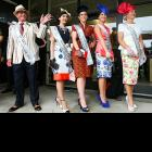 Fashion in the Field finalists pose proudly at Ellerslie Racecourse in Auckland, New Zealand.   CLICK HERE   to watch one of their exciting races.