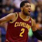 Kyrie Irving owns the Running Man Challenge
