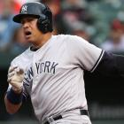 Yankees' Alex Roriguez leaves game with hamstring strain, will have MRI