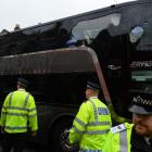 Manchester United team bus attacked enroute to match
