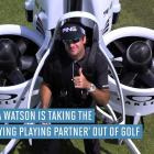 Bubba Watson debuts jetpack on golf course