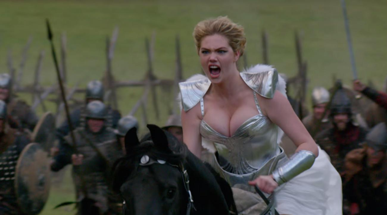 Thurs swim kate upton channels braveheart for game of war and more