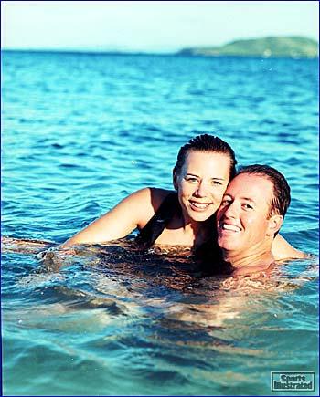 Annika Sorenstam and David Esch