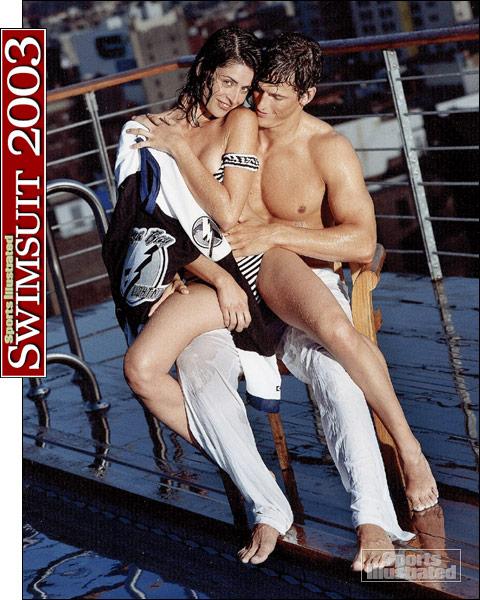 Caroline Portelance and Vincent Lecavalier