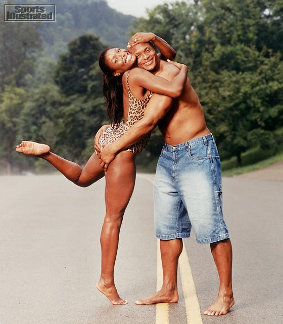 Tamara Johnson and Eddie George (Tennessee Titans)