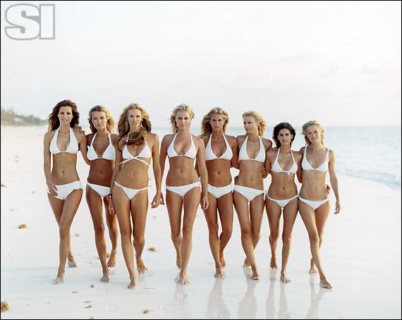 Christina Liquori Swim [Elsa]; ANK by Mirla Sabino [Veronica]; Dolce & Gabbana [Elle]; Chio di Stefania D [Rebecca]; BCBG Max Azria Swim\n[Rachel]\n; Calvin Klein Swimwear [Daniela]; Dolce & Gabbana [Yamila]; Vanda Catucci [Carolyn]