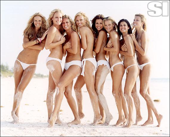 Dolce & Gabbana [Elle]; Chio di Stefania D [Rebecca]; BCBG Max Azria Swim [Rachel]; Calvin Klein Swimwear [Daniela]; Christina Liquori\nSwim [Elsa\n]; Vanda Catucci [Carolyn]; Dolce & Gabbana [Yamila];  ANK by Mirla Sabino [Veronica]