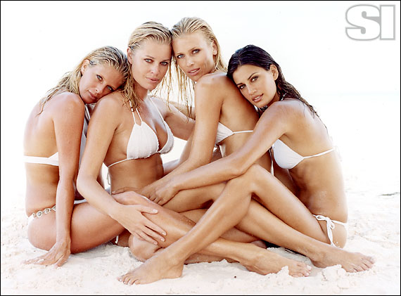 VIX Swimwear [Rachel]; C-Girl for Carla's Closet [Rebecca]; Luli Fama [Daniela]; Sauvage Swimwear by Elizabeth Southwood [Yamila]