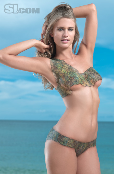 Julie Henderson - Body Painting - 2009 Sports Illustrated Swimsuit ...