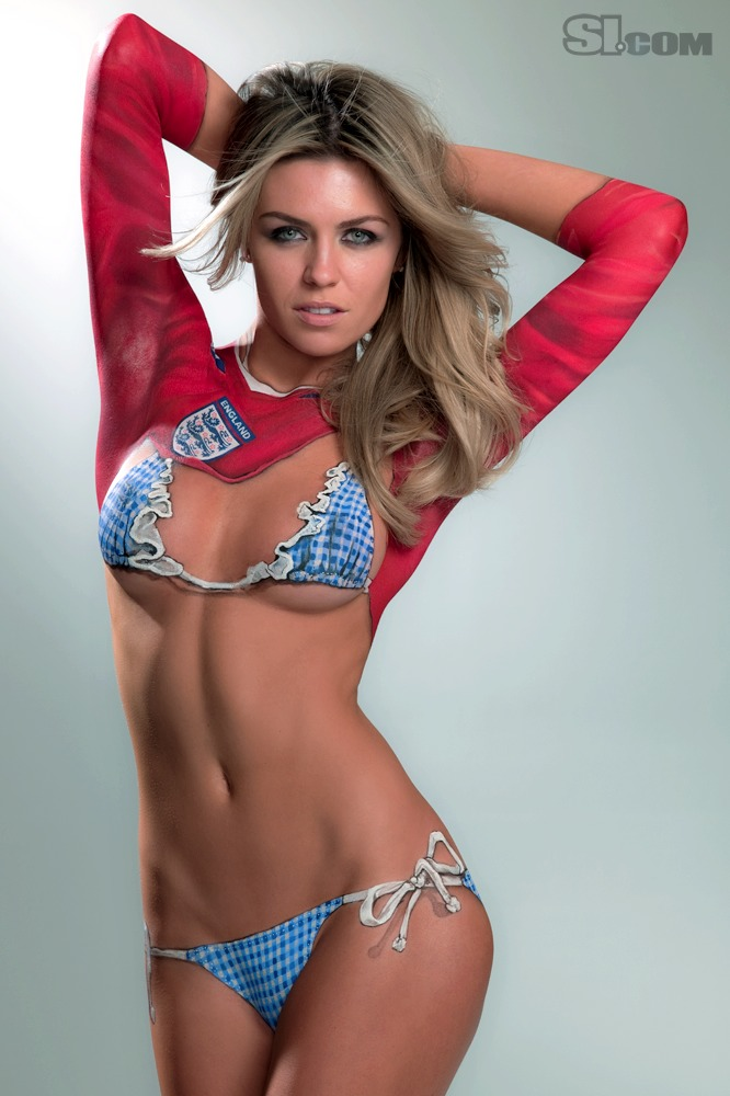 Abbey Clancy - Body Painting - 2010 Sports Illustrated Swimsuit ...