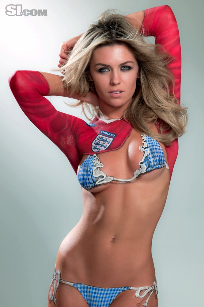 Abbey clancy body painting 2010 sports illustrated for Best body paint pics