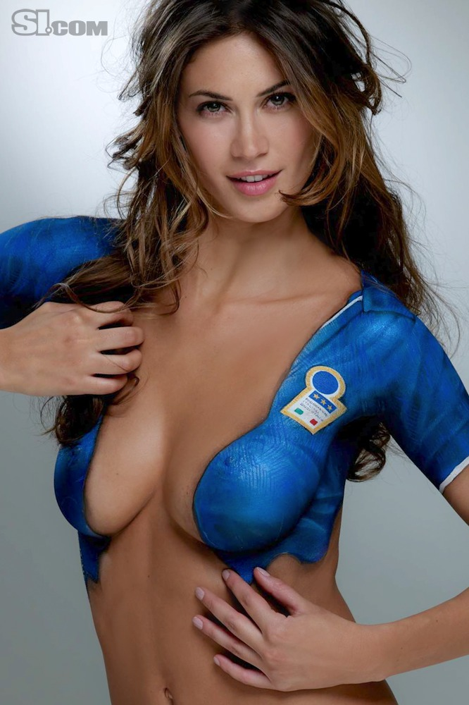 Melissa Satta Body Painting 2010 Sports Illustrated
