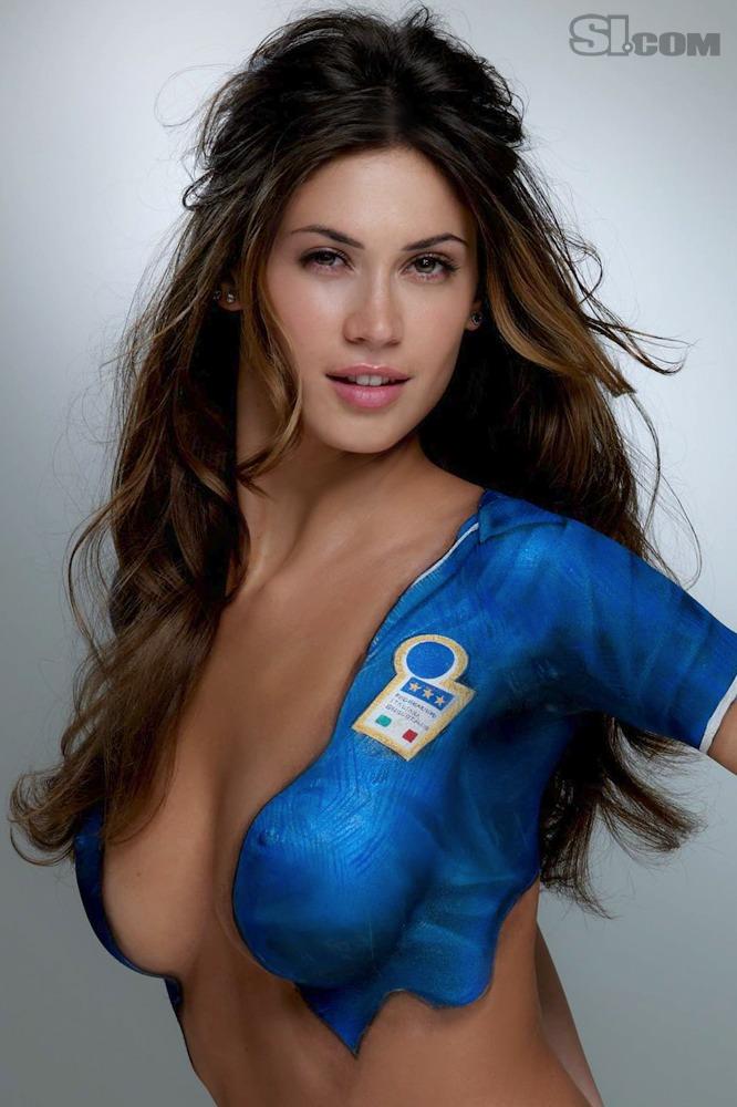 Melissa Satta - Body Painting - 2010 Sports Illustrated ...