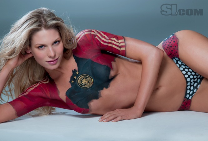 Sarah Brandner - Body Painting - 2010 Sports Illustrated Swimsuit ...