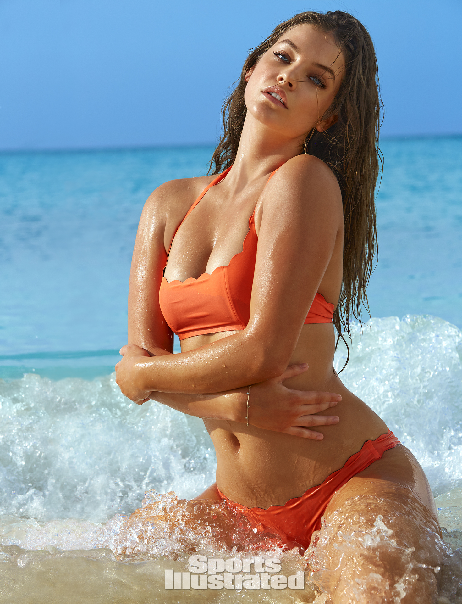 Barbara Palvin was photographed by James Macari in Turks & Caicos. Swimsuit by PilyQ.