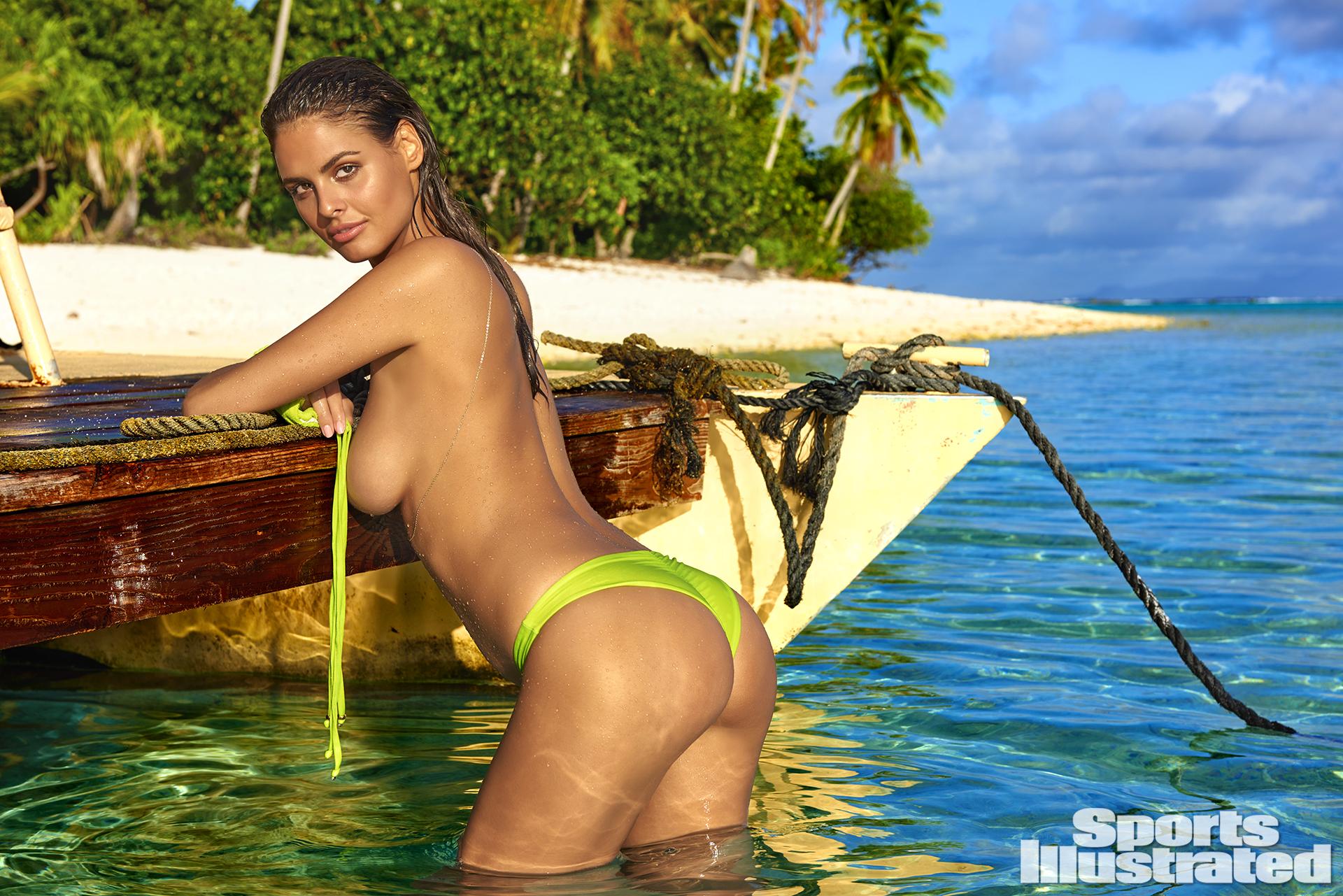 Bo Krsmanovic was photographed by Yu Tsai in The Islands Of Tahiti. Swimsuit by Liliana Montoya Swim.