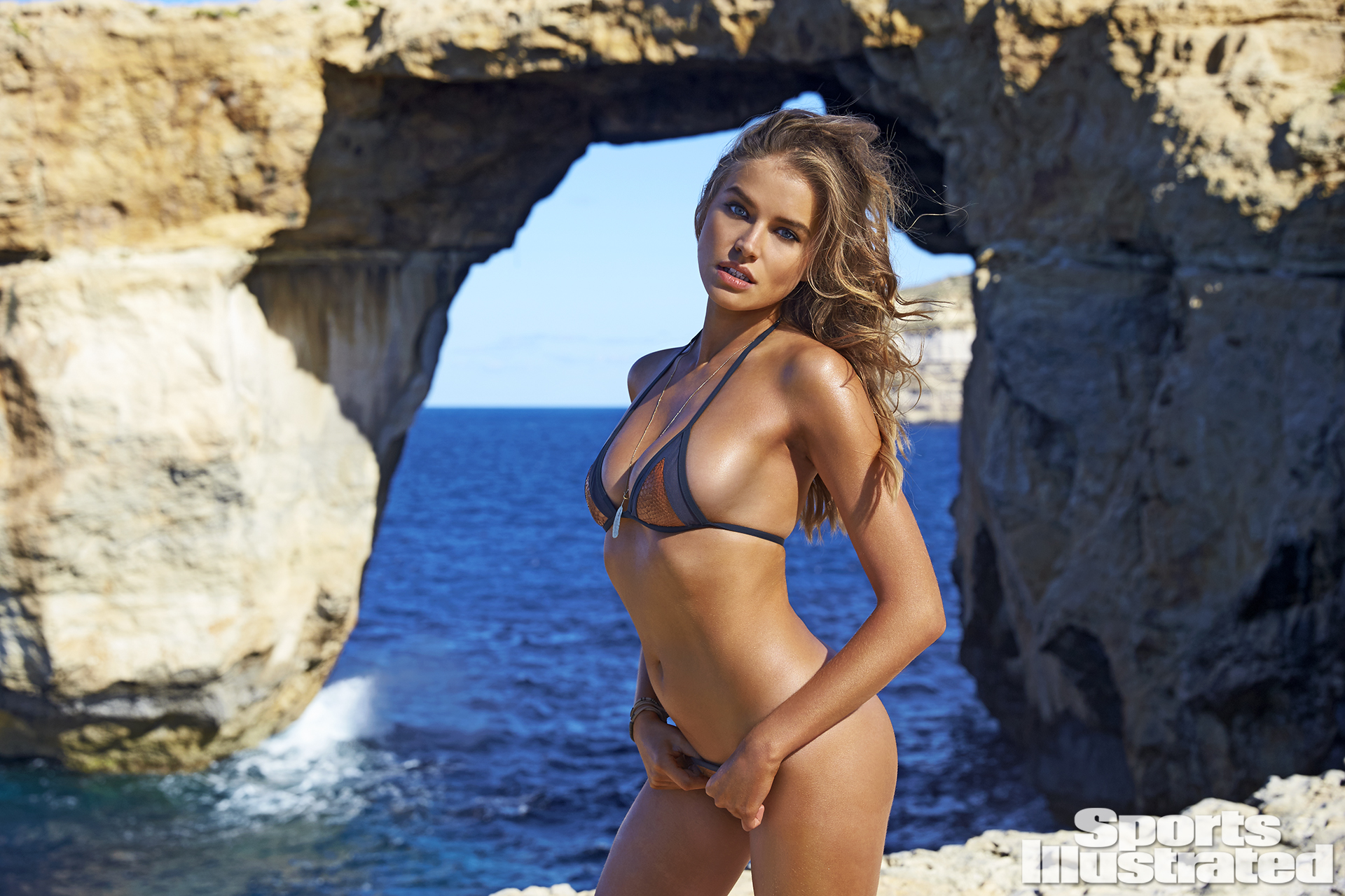 Tanya Mityushina was photographed by Ben Watts in Malta. Swimsuit by Perlita.