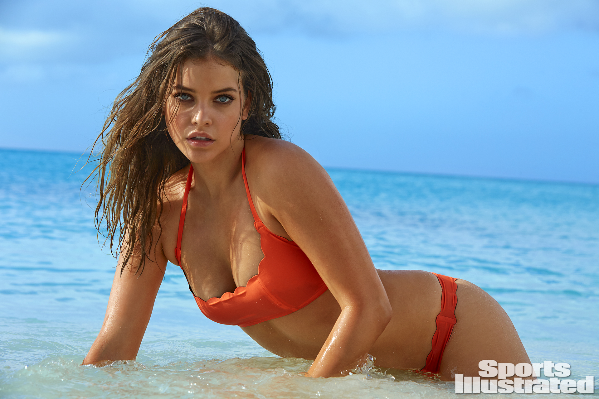 Barbara Palvin was photographed by James Macari in Turks & Caicos. Swimsuit by Pily Q.