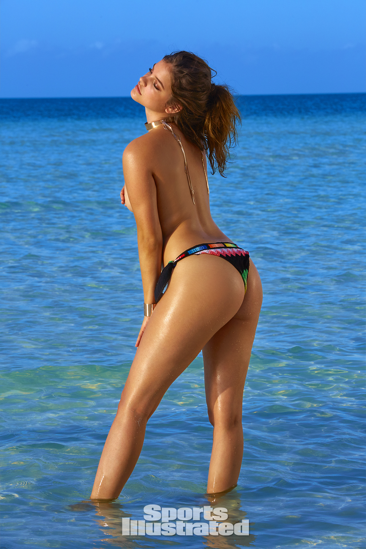 Barbara Palvin was photographed by James Macari in Turks & Caicos. Swimsuit by Missoni.
