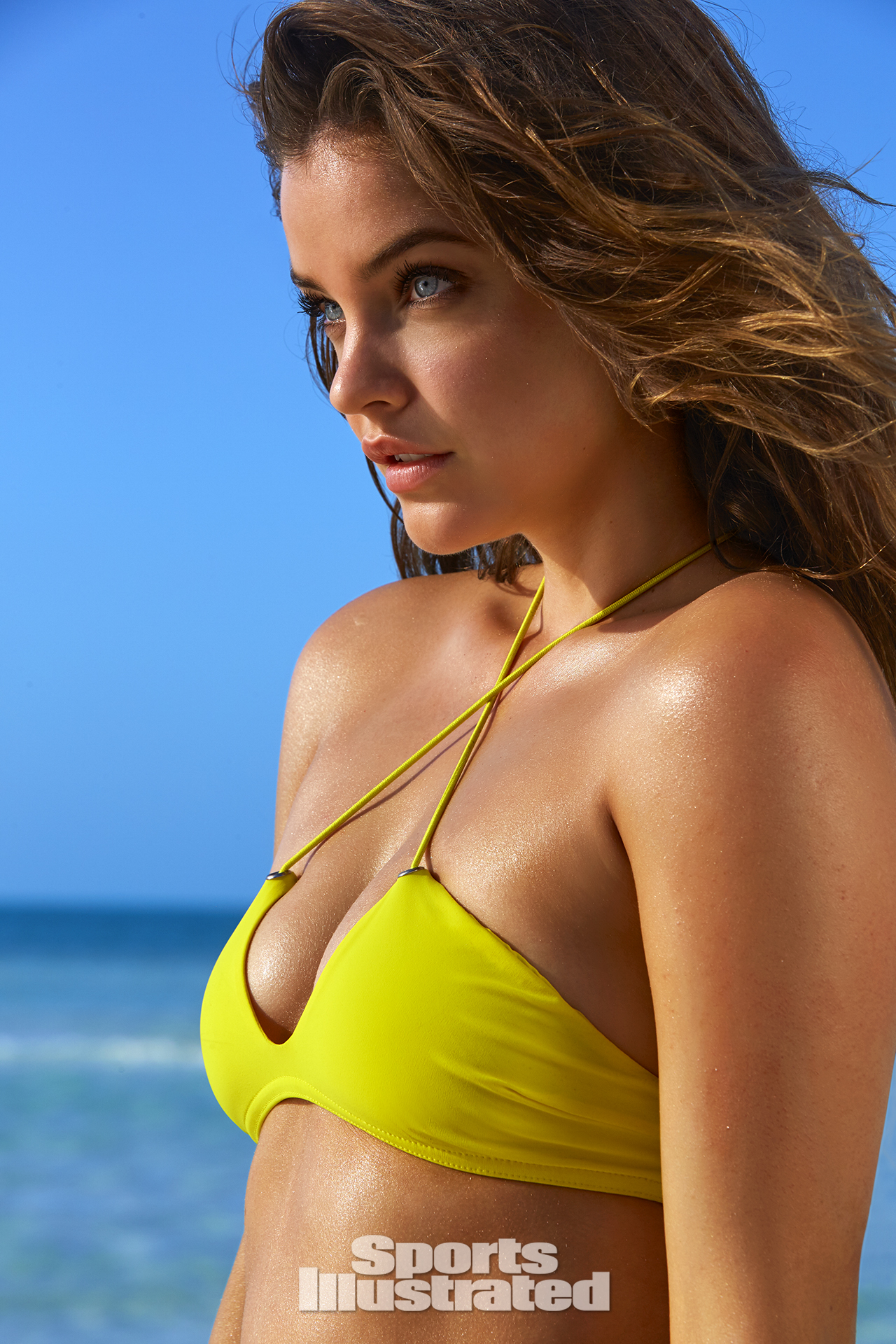 Barbara Palvin was photographed by James Macari in Turks & Caicos. Swimsuit by Karla Colletto.