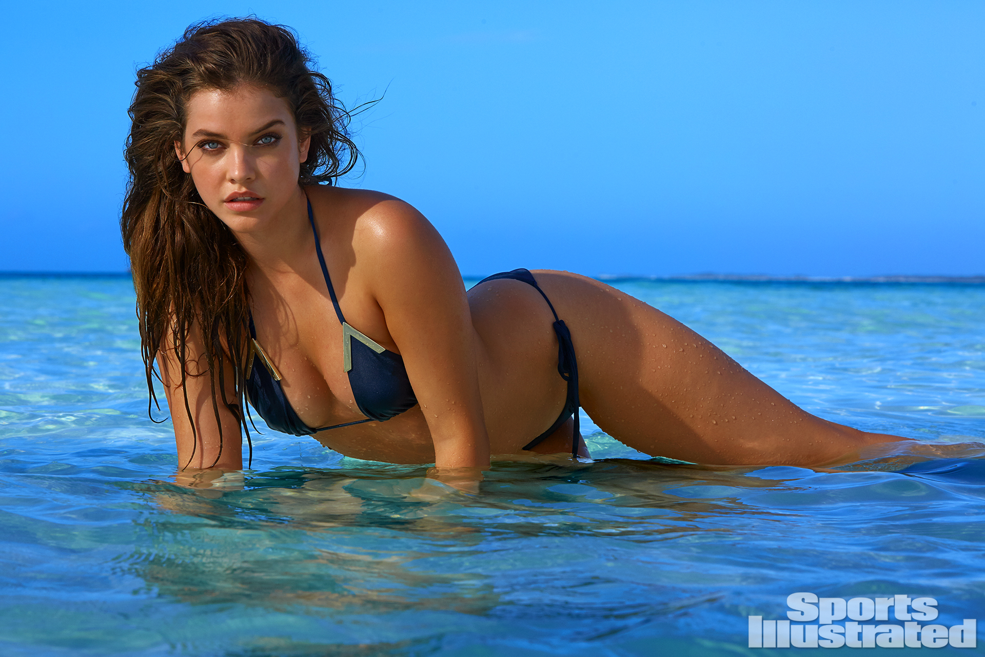Barbara Palvin was photographed by James Macari in Turks & Caicos. Swimsuit by BEACH RIOT By NICOLE HANRIOT.