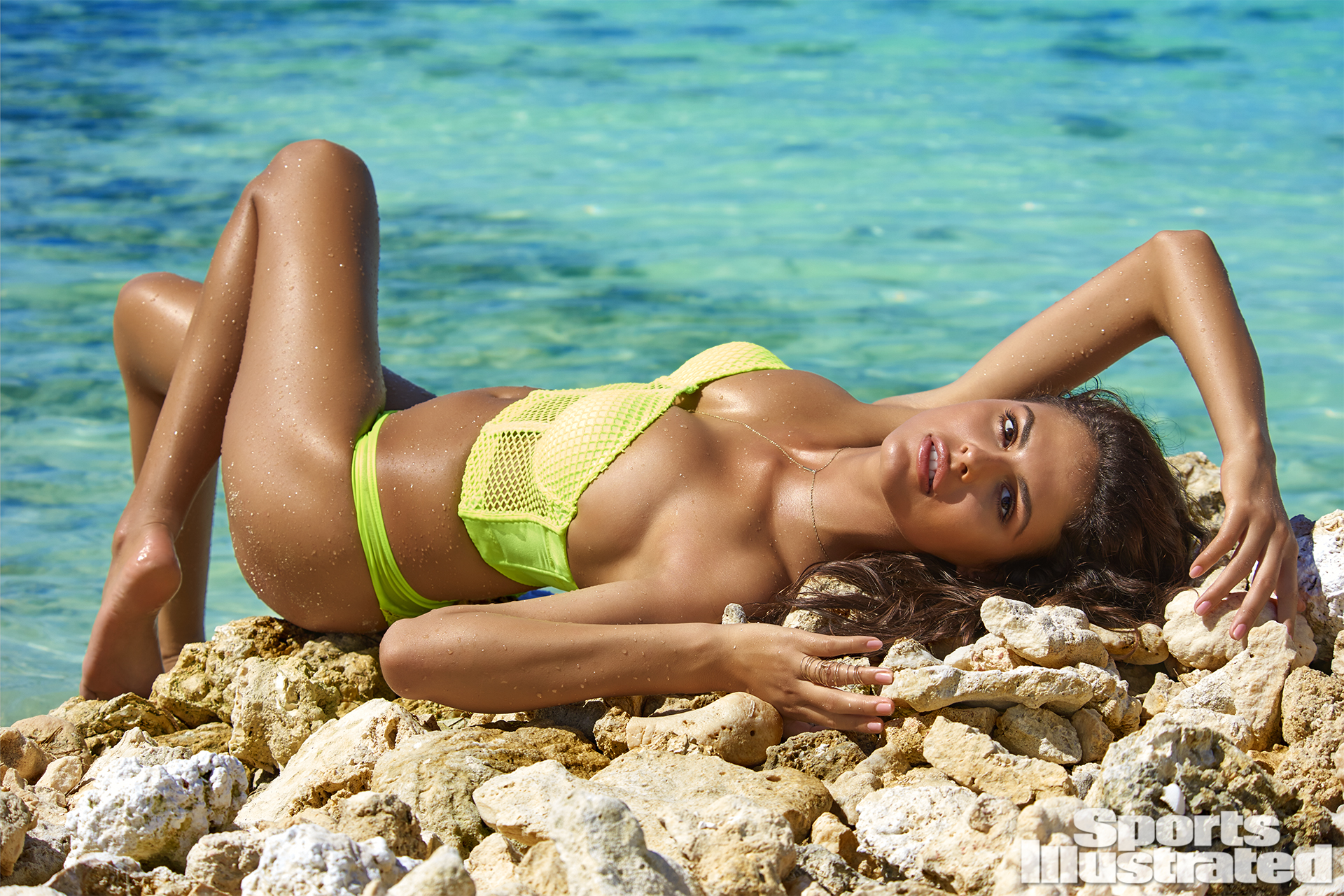 Bo Krsmanovic was photographed by Yu Tsai in The Islands Of Tahiti. Swimsuit by Susan Holmes Swimwear.