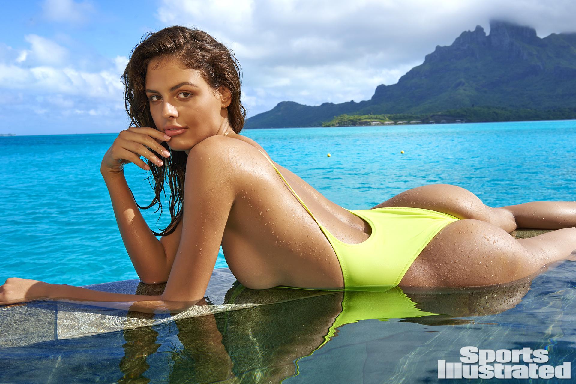 Bo Krsmanovic was photographed by Yu Tsai in The Islands Of Tahiti. Swimsuit by Kai Lani Swimwear.