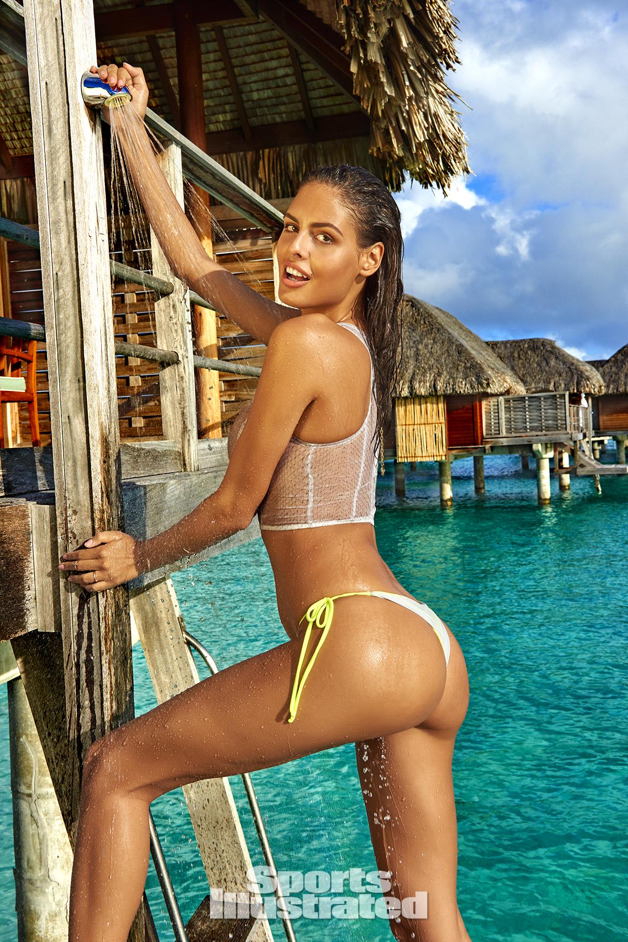 Bo Krsmanovic was photographed by Yu Tsai in the Islands of Tahiti. Top by eskini. Swimsuit by Kai Lani Swimwear.