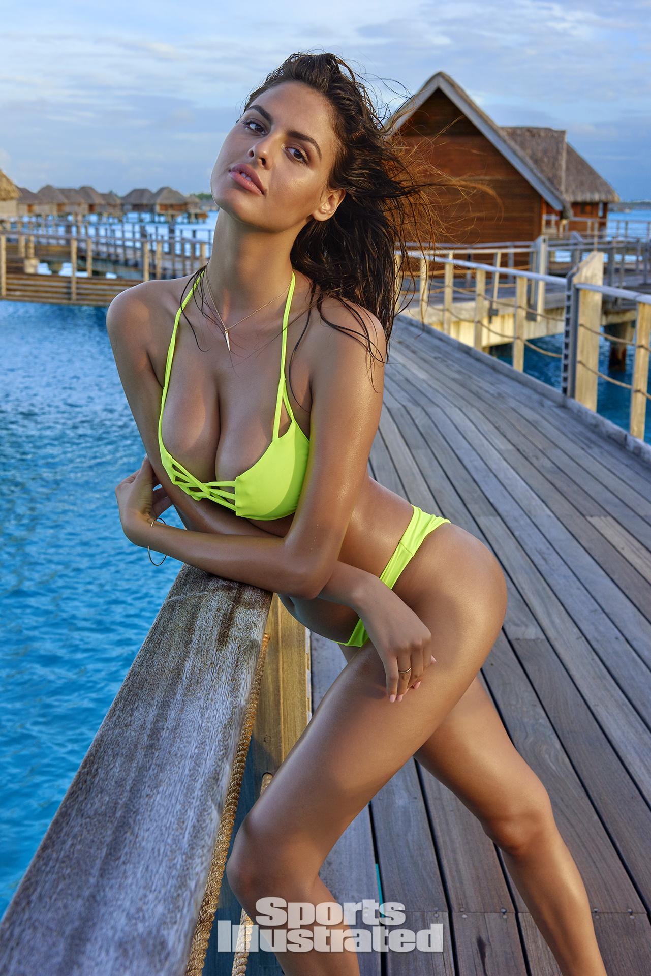 Bo Krsmanovic was photographed by Yu Tsai in The Islands Of Tahiti. Swimsuit by Keva J Swimwear.