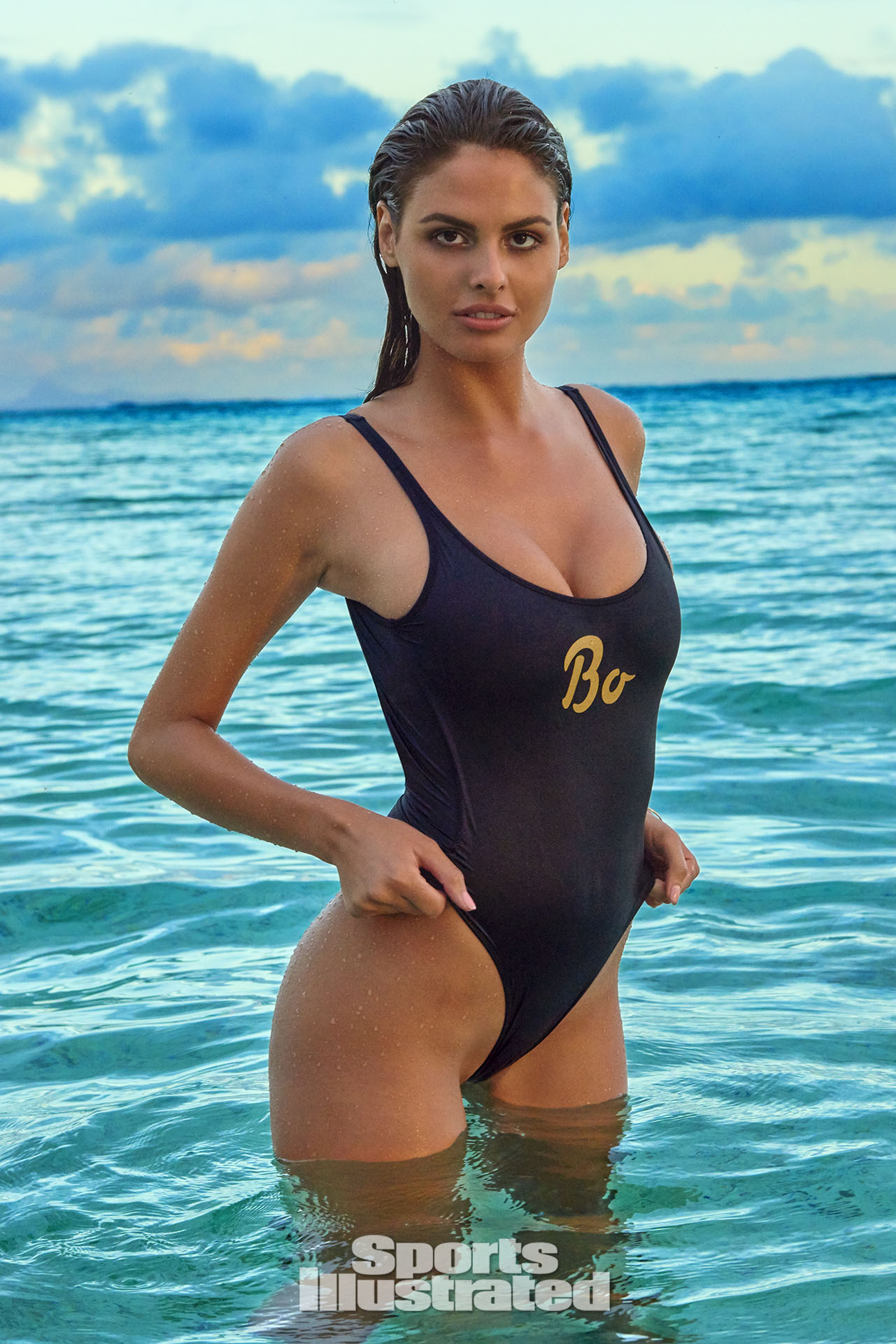 Bo Krsmanovic was photographed by Yu Tsai in The Islands Of Tahiti. Swimsuit by Bruna Malucelli.