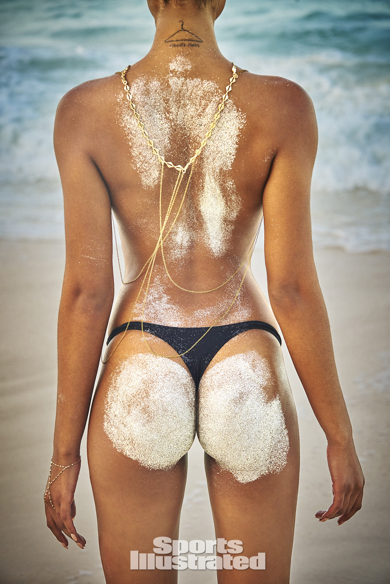 Chanel Iman was photographed by Ruven Afanador in Zanzibar. Swimsuit by Charlie By Matthew Zink.
