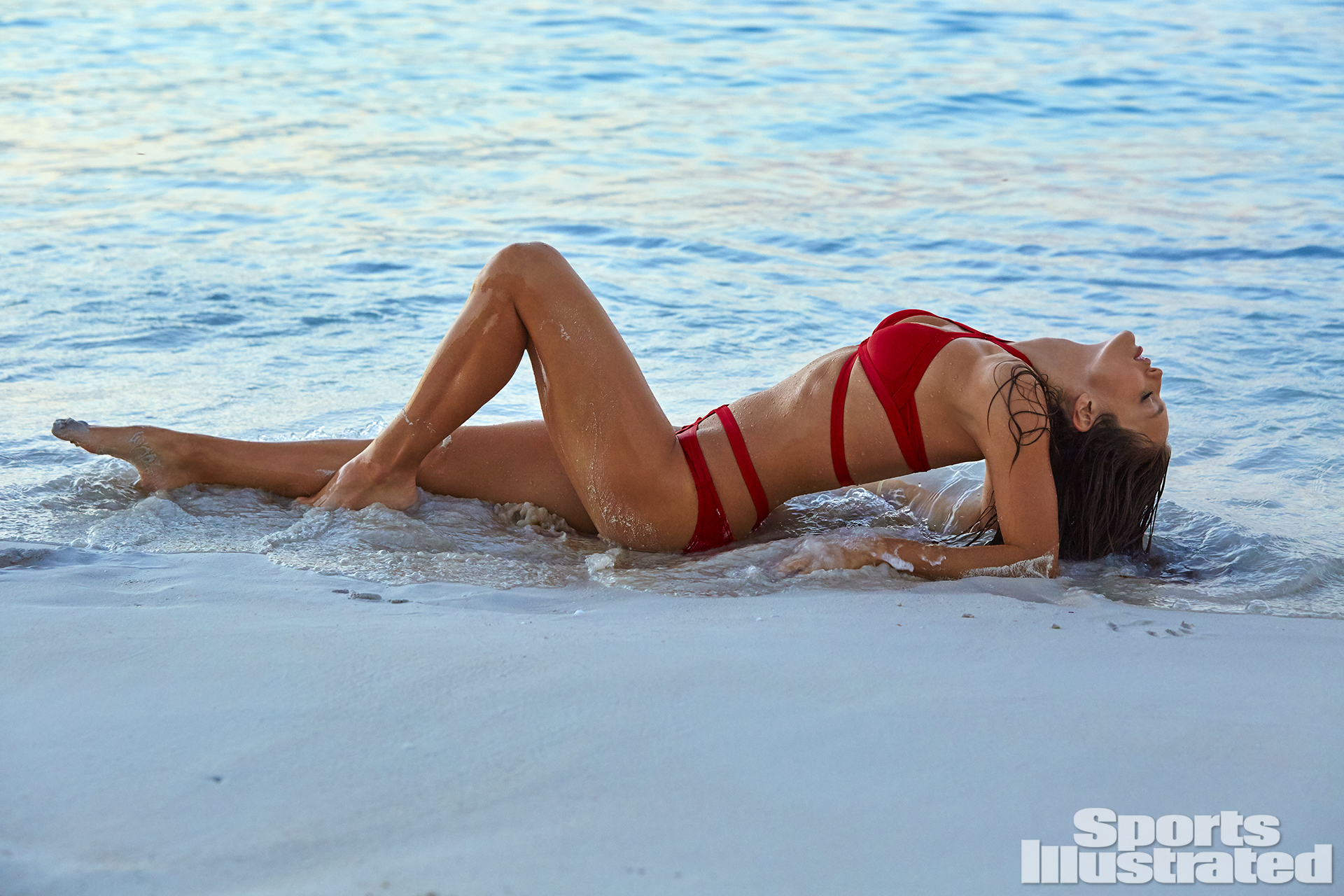 Emily DiDonato was photographed by James Macari in Turks & Caicos. Swimsuit by BOUND+TIDE by Mitchell Kass.