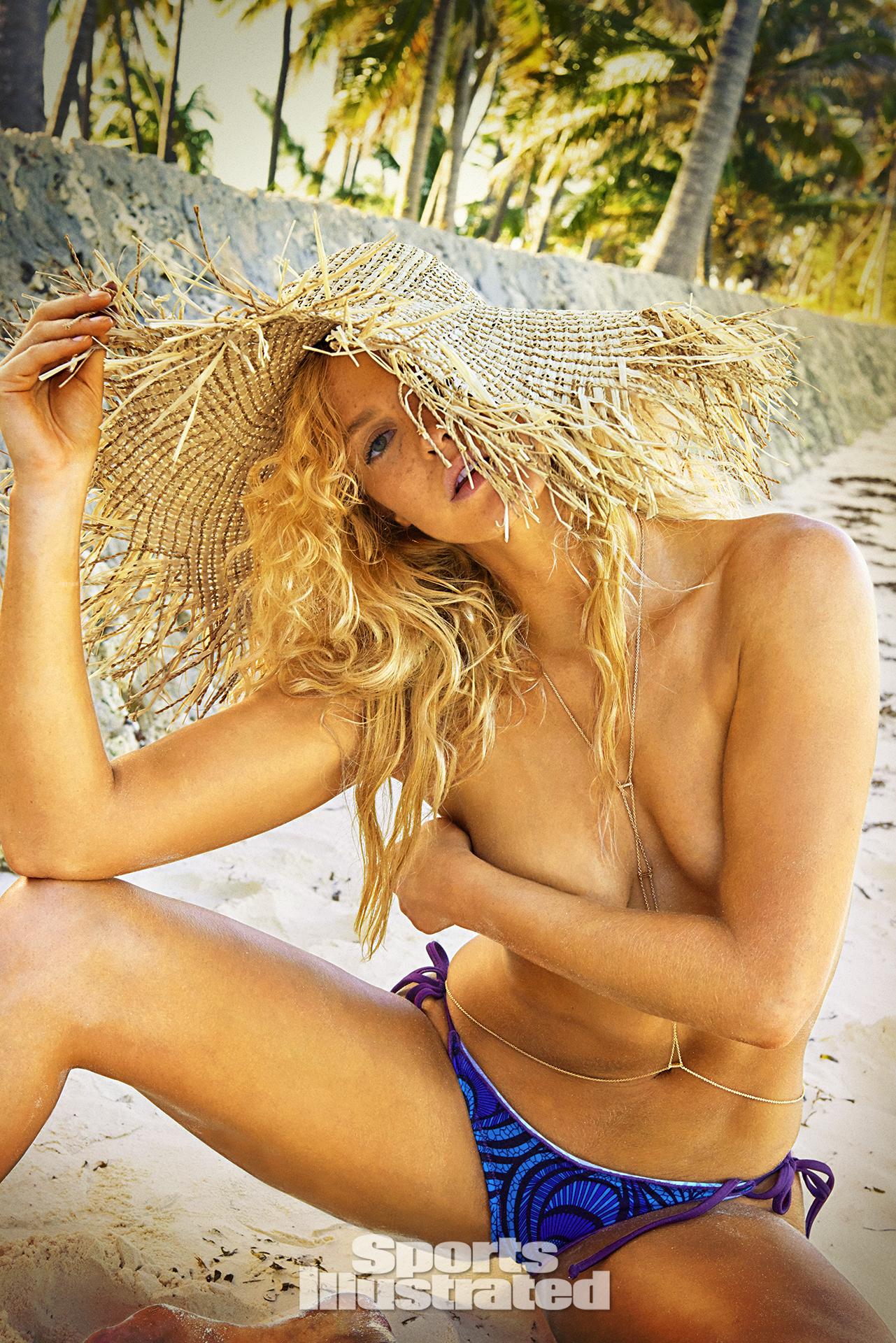 Erin Heatherton was photographed by Ruven Afanador in Zanzibar. Swimsuit by SUMMERLOVE SWIMWEAR.