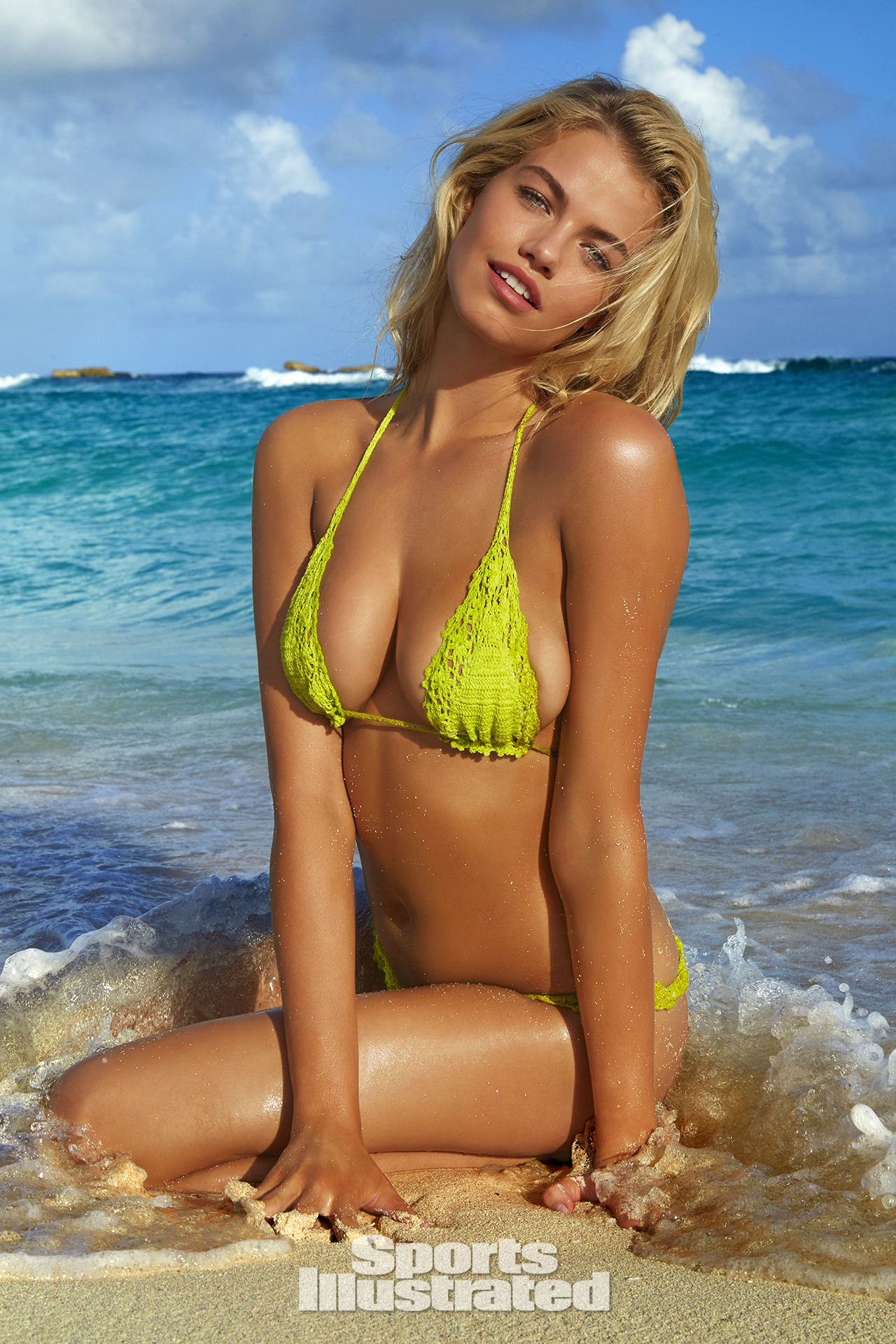 Hailey Clauson was photographed by James Macari in Turks & Caicos. Swimsuit by Anna Kosturova.