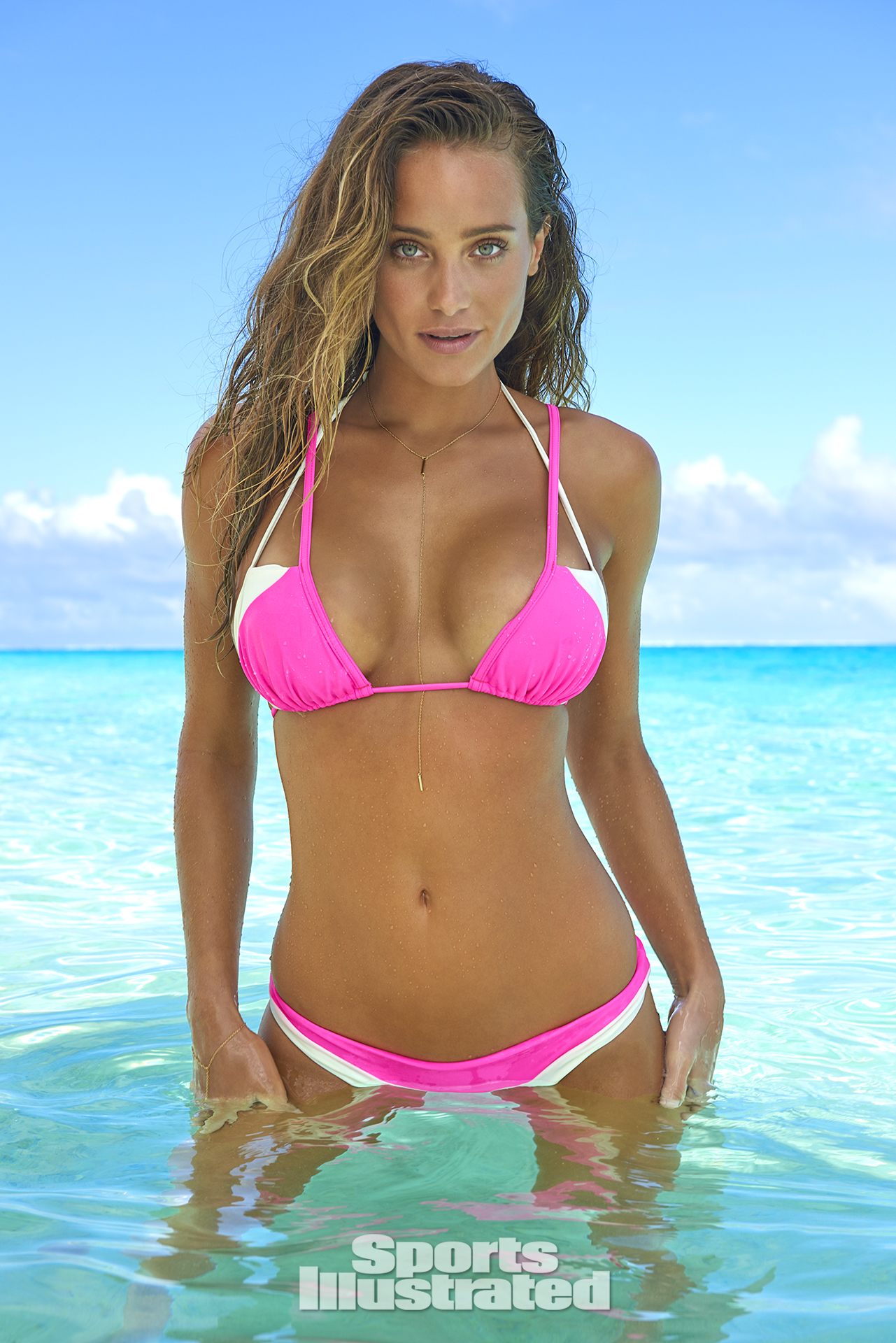 Hannah Davis was photographed by Yu Tsai in The Islands Of Tahiti. Swimsuit by Lychee Swimwear.