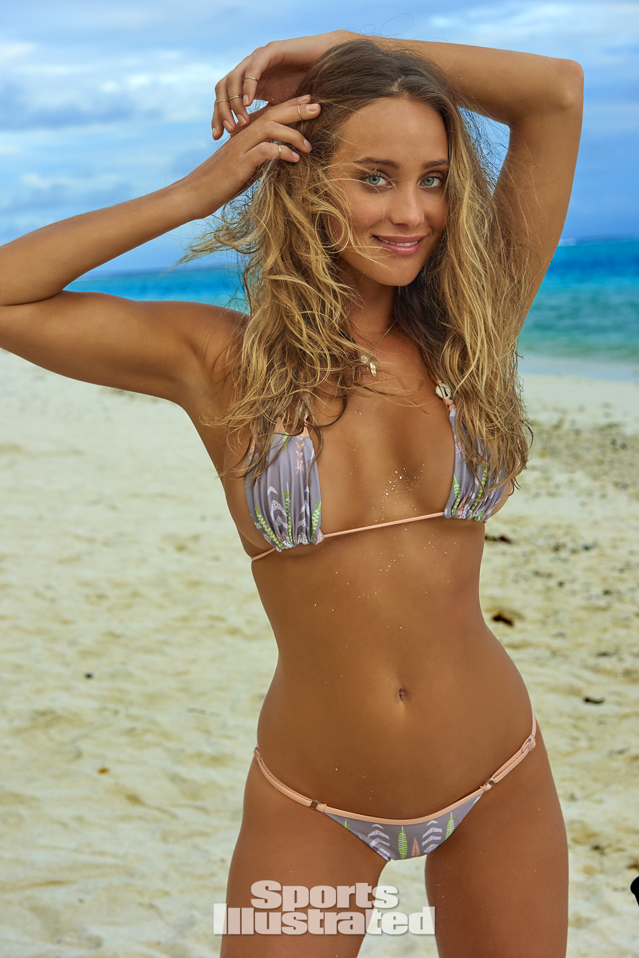 Hannah Davis was photographed by Yu Tsai in The Islands Of Tahiti. Swimsuit by IndieSWIM.