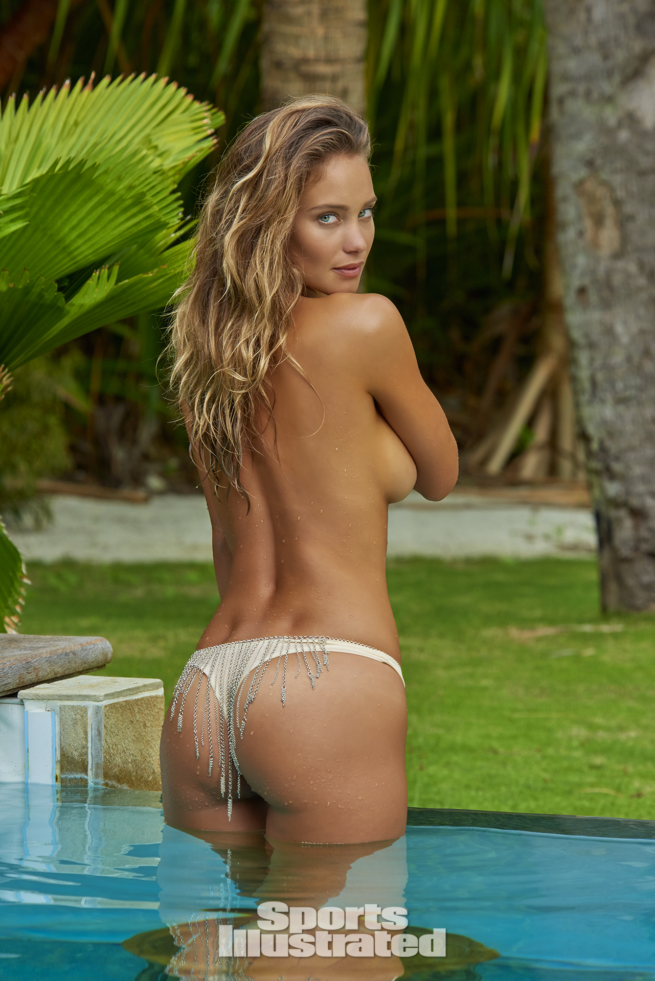 Hannah Davis was photographed by Yu Tsai in The Islands Of Tahiti. Swimsuit by INDAH.