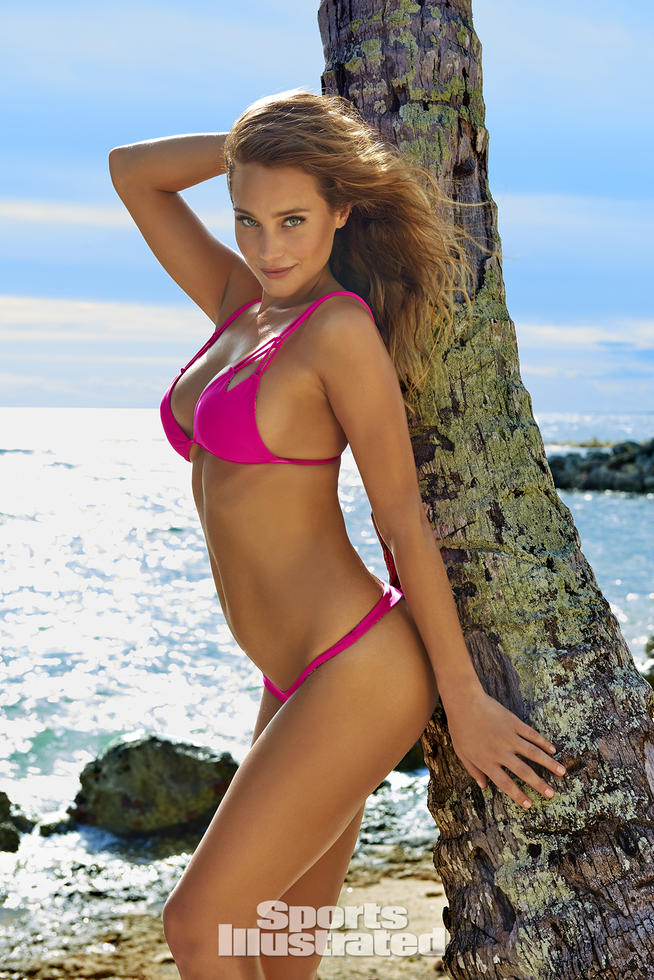 Hannah Davis was photographed by Yu Tsai in The Islands Of Tahiti. Swimsuit by Acacia Swimwear.
