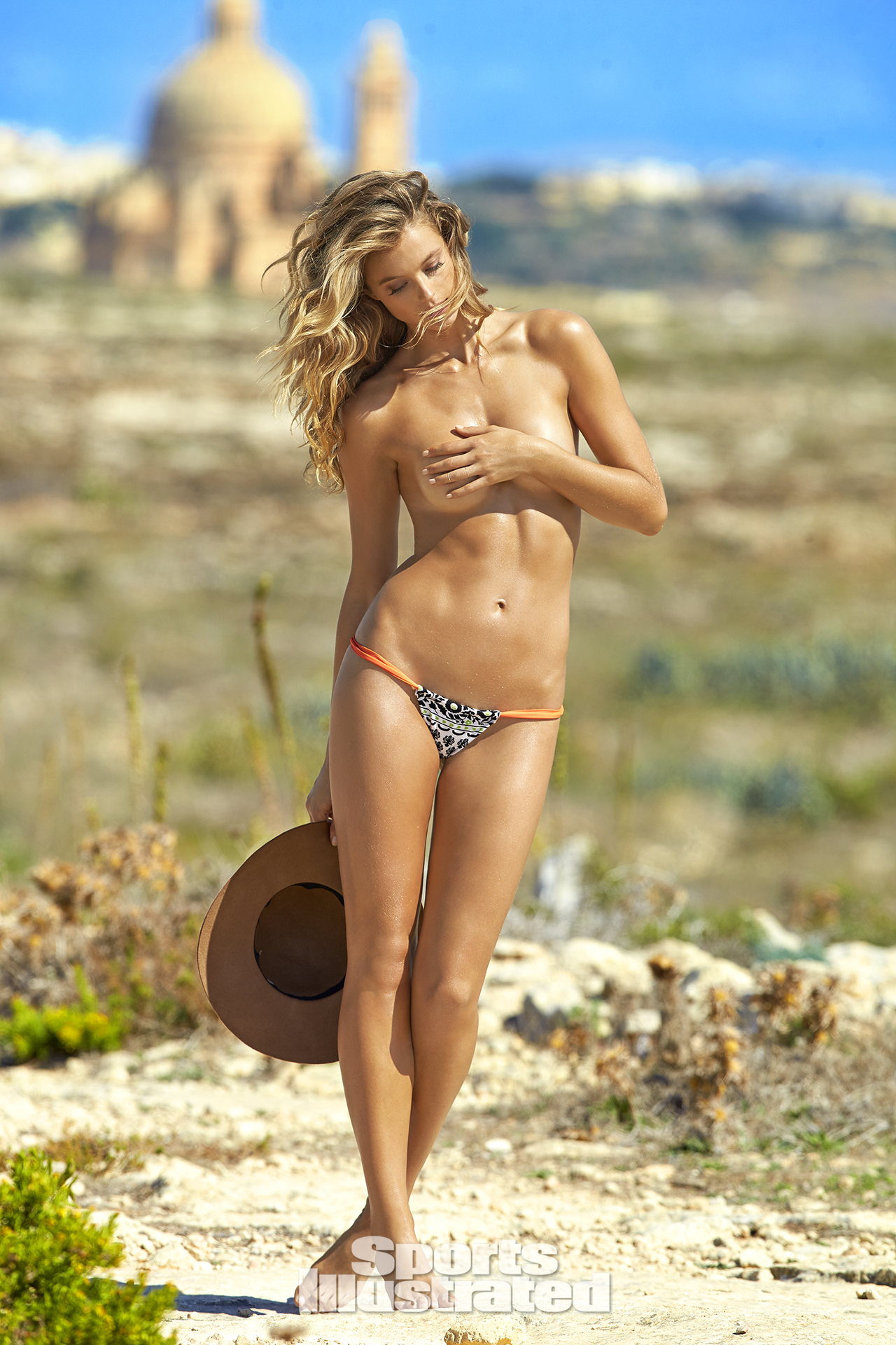 Kate Bock was photographed by Ben Watts in Malta. Swimsuit by Ola Vida.