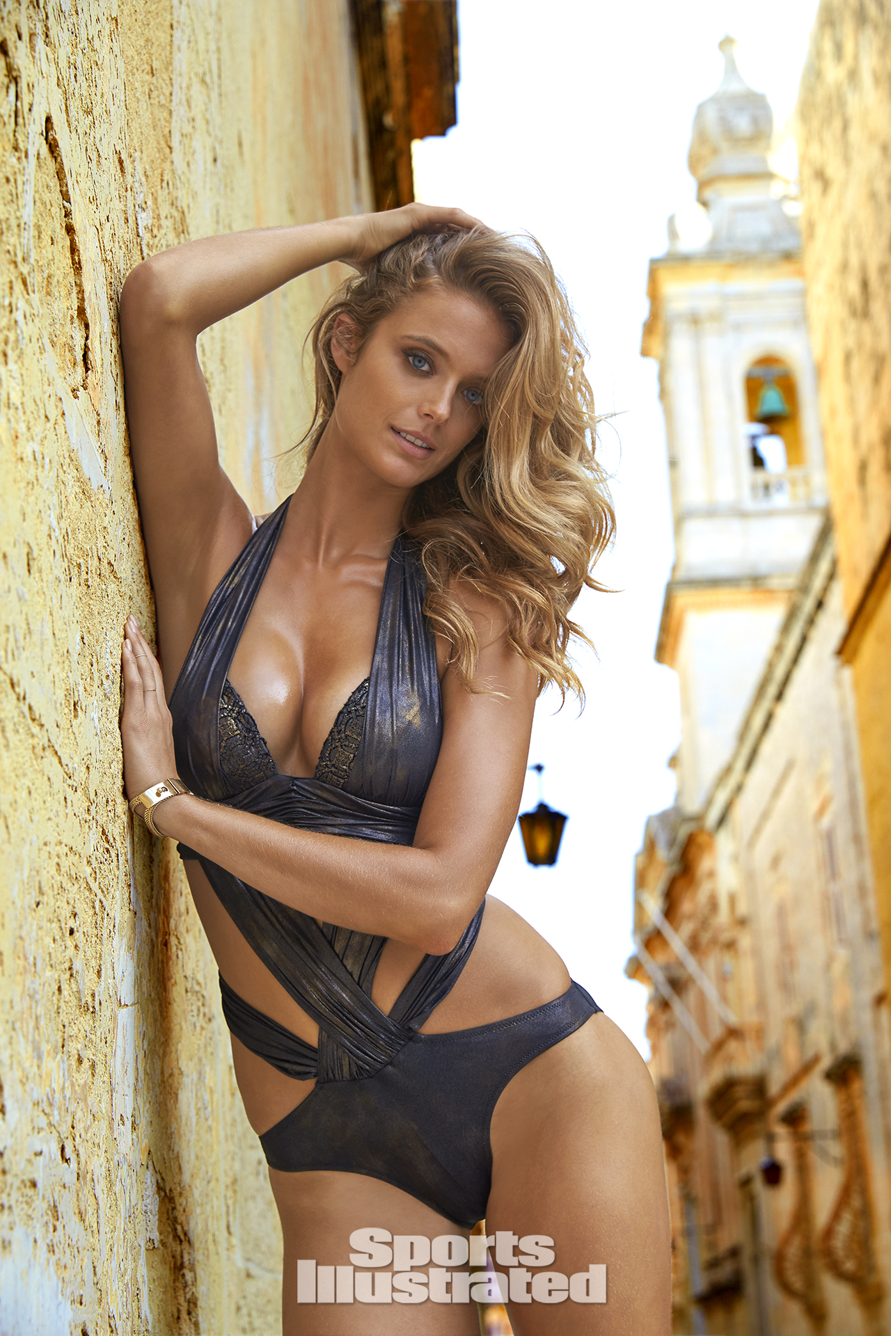 Kate Bock was photographed by Ben Watts in Malta. Swimsuit by GOTTEX.