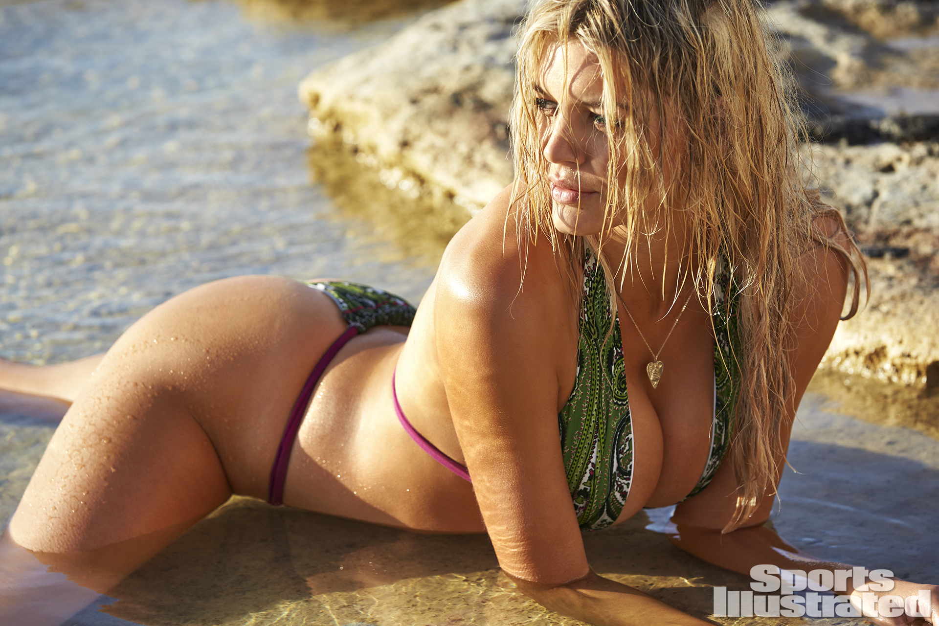 Kelly Rohrbach was photographed by Ben Watts in Malta. Swimsuit by Ola Vida.