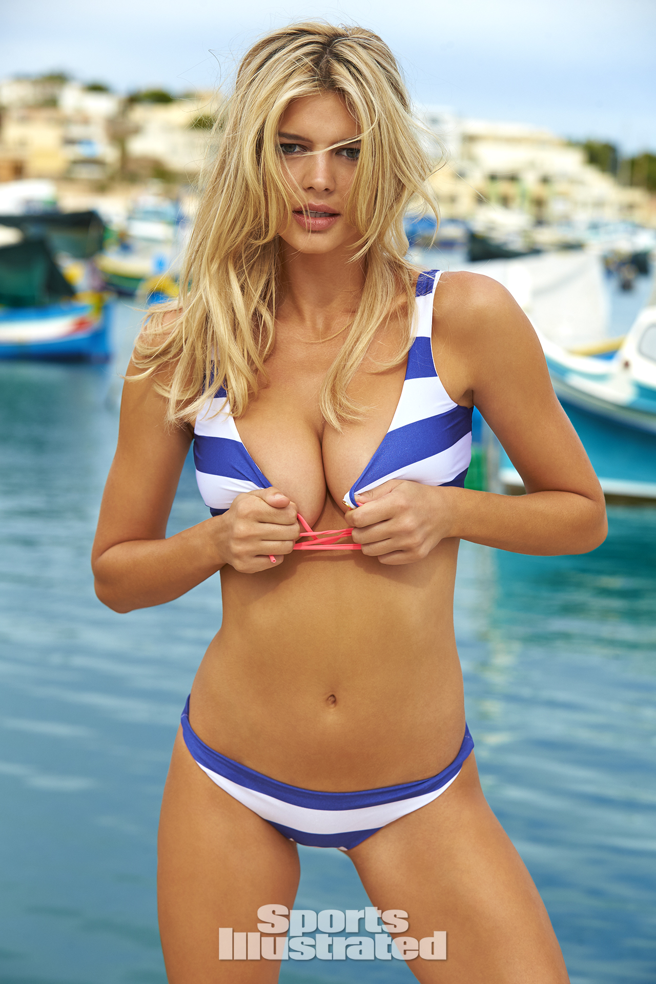 Kelly Rohrbach was photographed by Ben Watts in Malta. Swimsuit by CYNABABY SWIMWEAR.